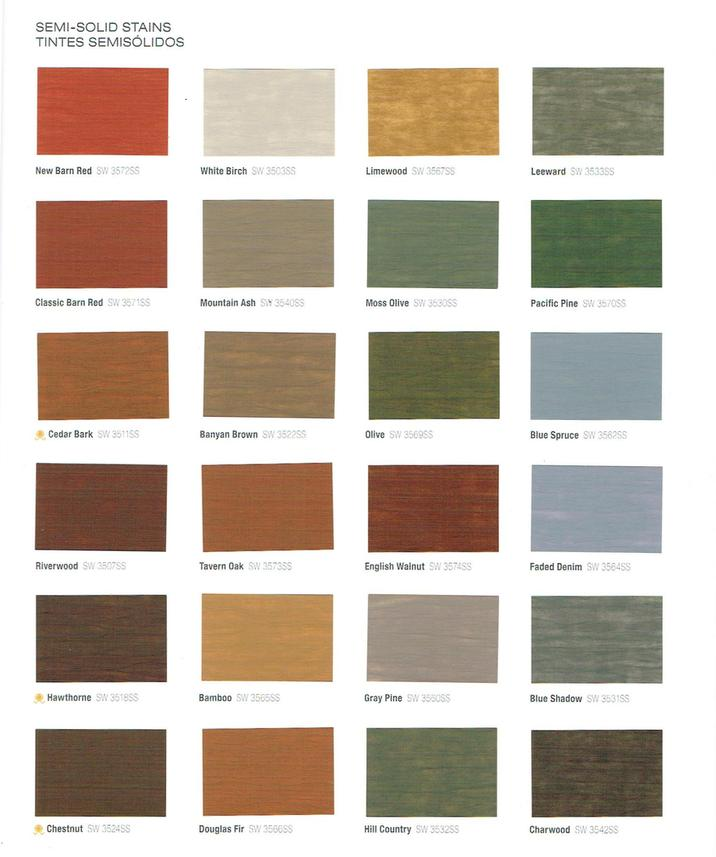 Stain Metal Colors