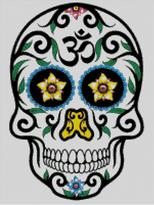 Cross Stitch Chart of Sugar Skull No 09