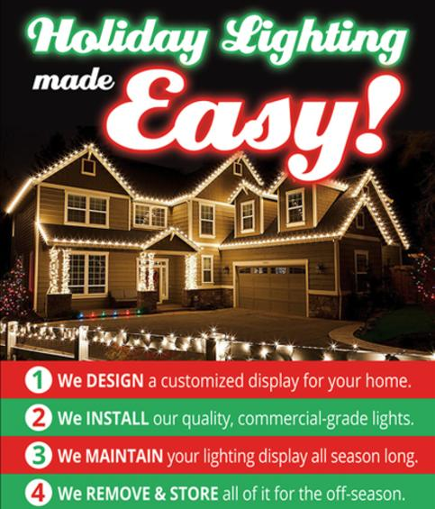 we are your santas little helper - Install Christmas Lights