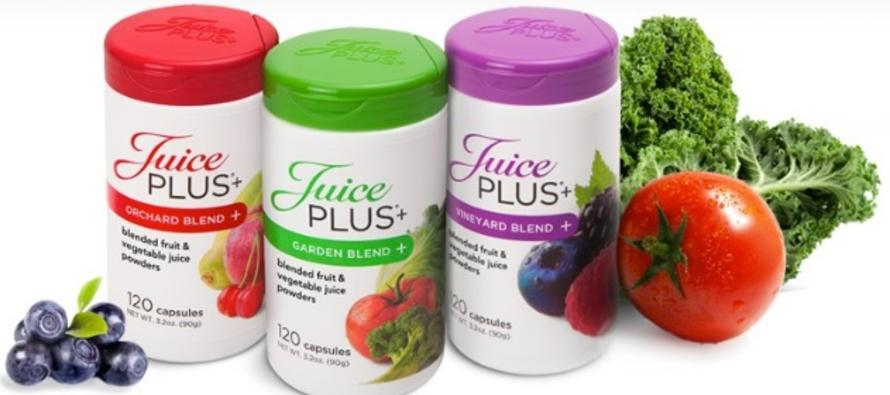 Order Juice Plus. A whole food fruit and vegetable supplement.