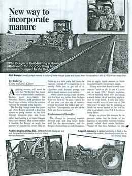 Howard New Way to Incorporate Manure Article