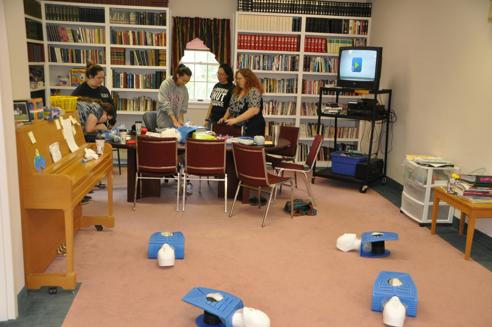 Our classes all of our staff are cpraed and first aid certified here is a cpr class in progress 1betcityfo Choice Image