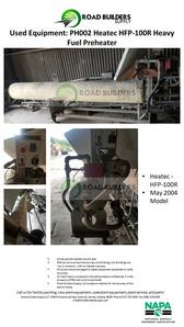 Heatec HFP-100R Heavy Fuel Preheater for Asphalt Plants
