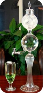 Borosilicate Glass Single Spout Absinthe Fountain