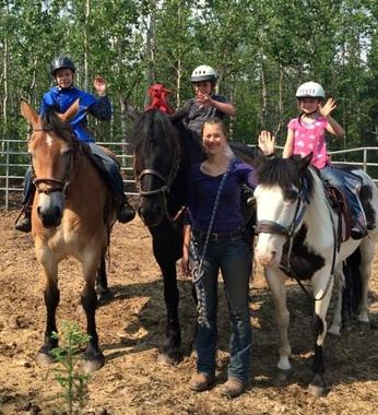 Horseback riding in Denali