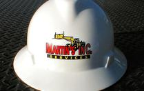 Martin's Inc Services Logo on Hard Hat