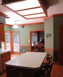Laminate countertops were all throughout the kitchen before renovation.