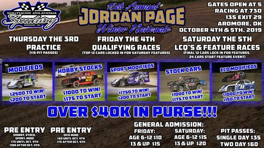 Southern Oklahoma Speedway in Ardmore, Ok