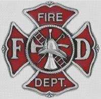Cross Stitch Chart of Fire Dept Maltese Cross
