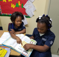 Picture of first graders studying in class