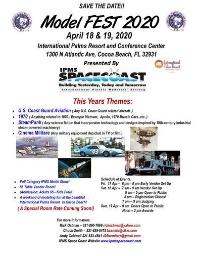 Coast Guard Festival 2020.Modelfest Flyer