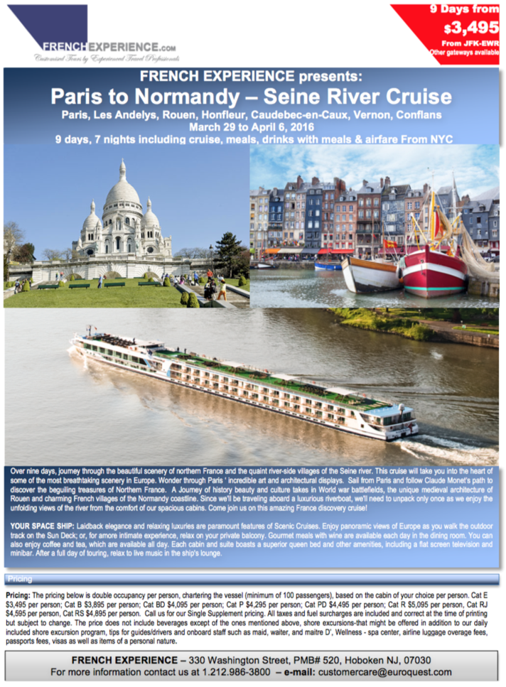 France River Cruise Seine River Cruise Barge Cruises France - France river cruise