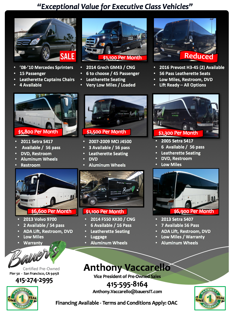 Bauer's Certified Pre-owned - Luxury Buses For Sale