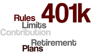 401K rules, limits, contribution and retirement planning