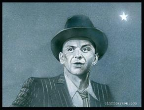 FRANK SINATRA (acrylic and pencil on board)