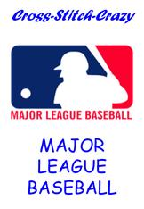 Major League Baseball Cross Stitch Charts Main Index Page