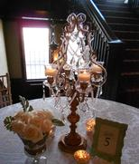 Gold and Crystal Candelabra for Wedding at Semple Mansion