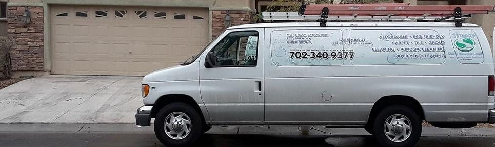 Fresco Carpet Cleaning & more van. Truck mounted carpet cleaning system