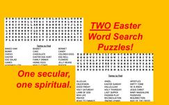 Two Easter Word Search Puzzles with Religious and Secular Terms