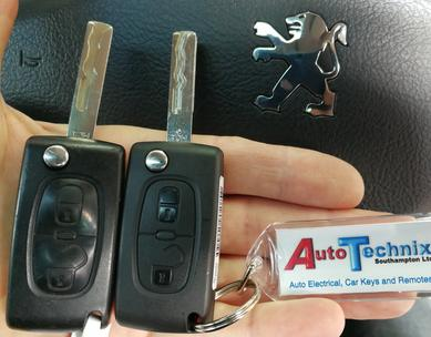 Remote keys for Peugeot cars