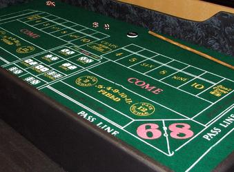 Casino Night Gaming Tables at a Nashville Casino Party.