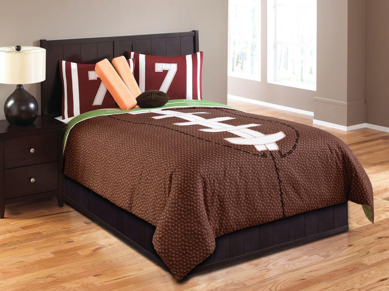 Boys sports bedding sets full - Hallmart Touchdown Comforter Set Hallmart Kids Soccer