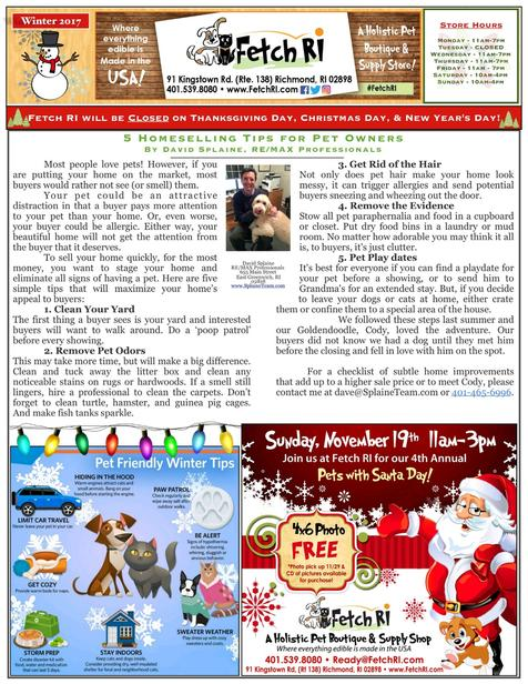 Fetch RI - Winter 2017 Newsletter - Page 1