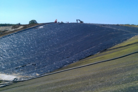 Geomembrane Capping landfill