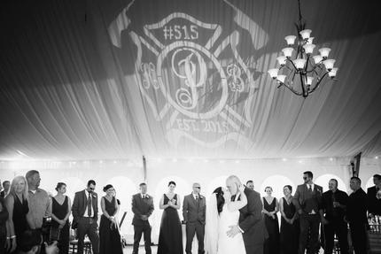 Wedding Monogram at the Colonial Hotel Gardner Massachusetts