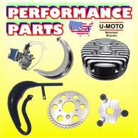 motorized bike performance parts