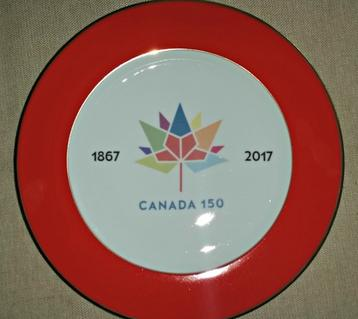 canada 150 charger plates with official logo