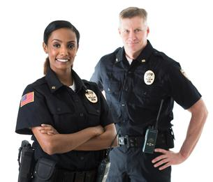 Male and female security guard