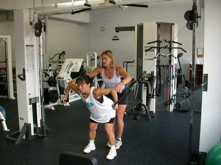 Fitness can involve exercises that challenge different muscle groups.