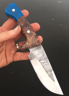How to make a High Carbon Steel knife with metal etched blade texture. FREE step by step instructions. www.DIYeasycrafts.com