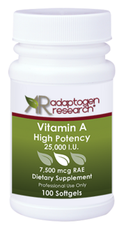 Adaptogen Research, Vitamin A - High Potency - 100 Softgel - Adaptogen Research