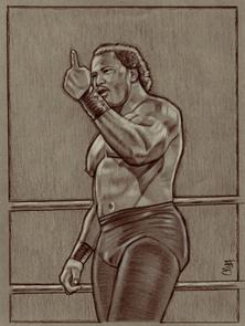 Pro Wrestler RON SIMMONS by Cliff Carson