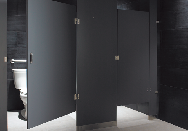 HOME - Solid plastic bathroom partitions