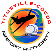 Titusville-Cocoa Airport Authority Logo Aircraft & Astronaut Helmet
