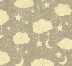 Grey Cloud Fabric. Moon and Stars Fabric. To the Moon and Back