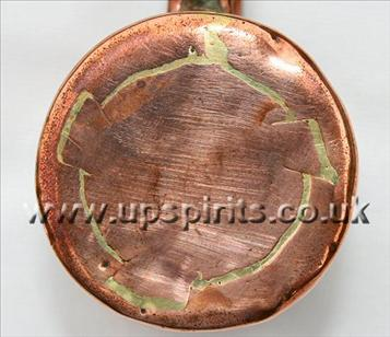 Copper rum measure-Round-Royal Navy-bottom seam