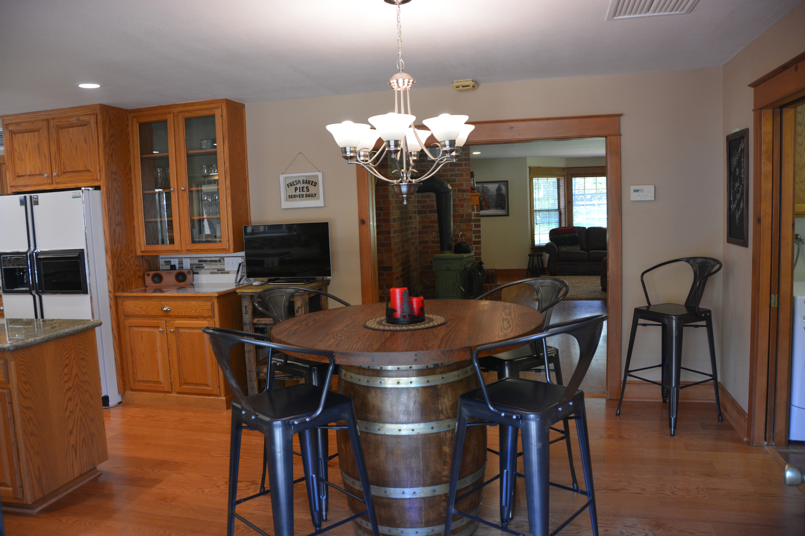 Wine Barrel Kitchen Table Welcome
