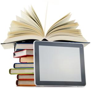 Books with tablet