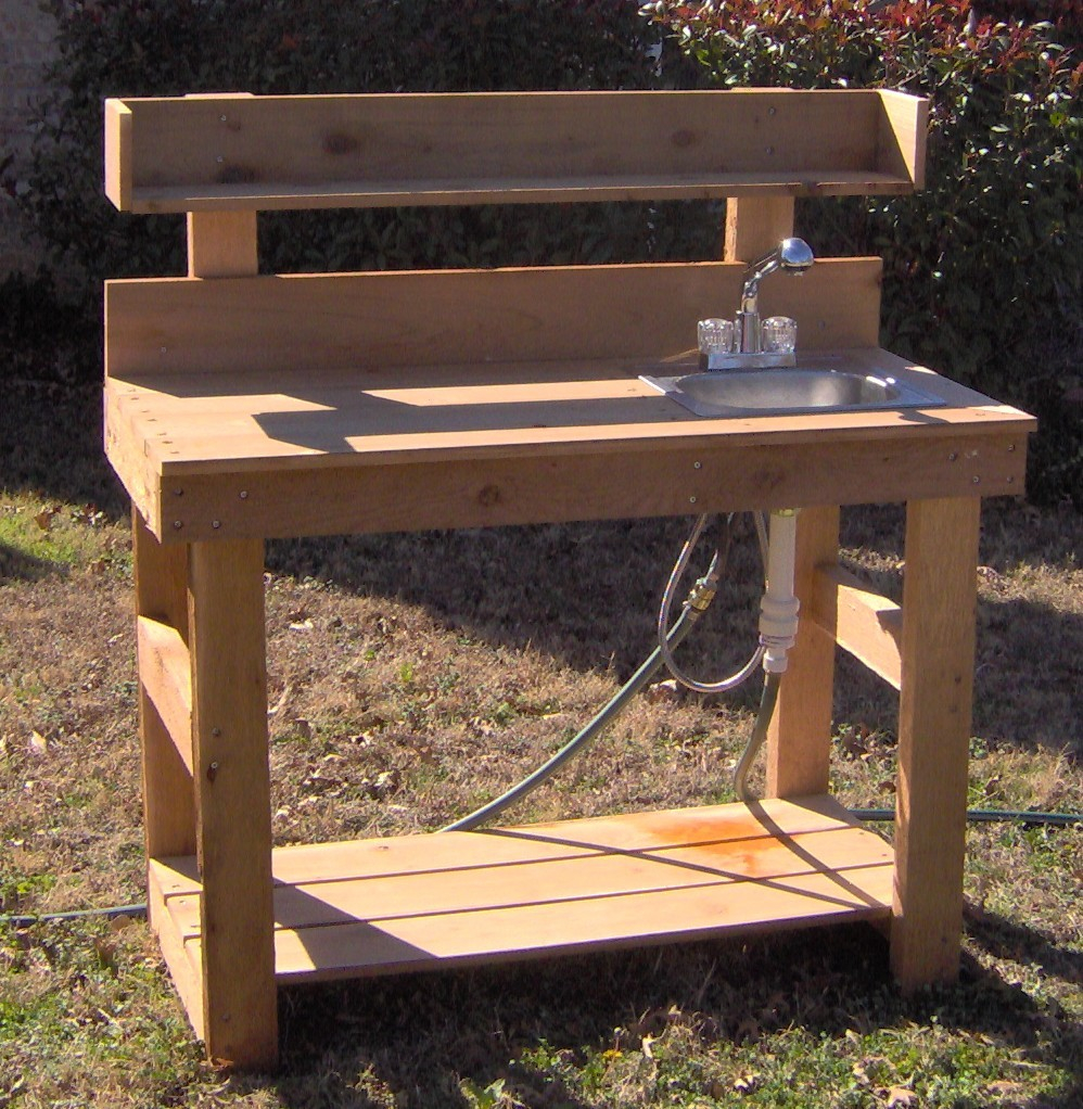 Potting Table Deluxe Potting Bench With Sink