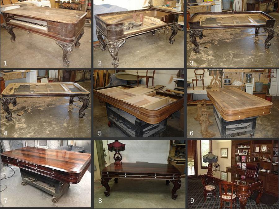 - Custom Square Grand Piano Desks Berger's Furniture Refinishing