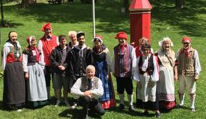 Danish folk dancers
