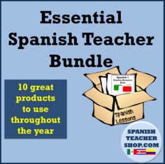 Essential Spanish Teacher Bundle Cover