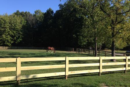Wood Board Fence Rail Fence