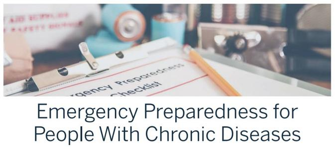 Emergency Preparedness for People with Chronic Disease