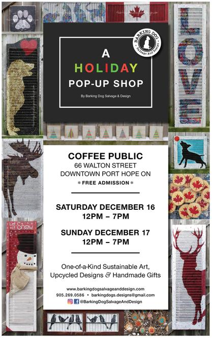 holiday pop up shop christmas shutters coffee house