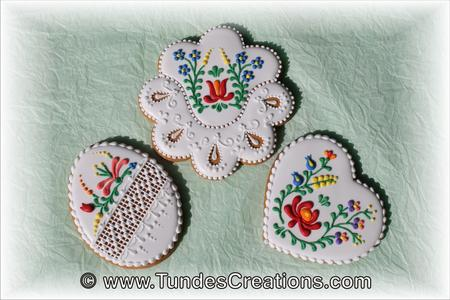 Cookie Academy Hungarian Folk Art Flowers Master Class with Tunde Dugantsi